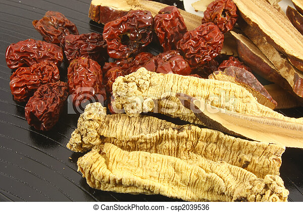 Traditional Chinese Herbs - csp2039536