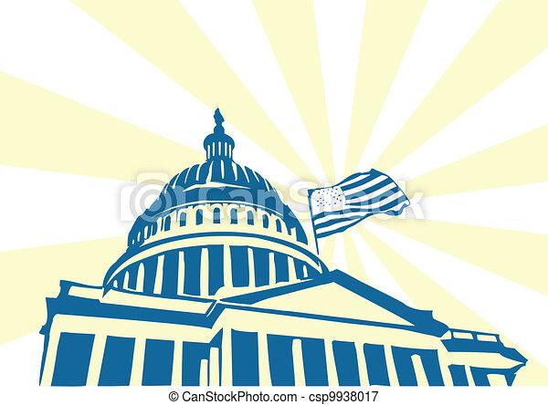 USA Capitol - csp9938017