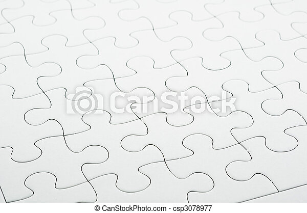 White jigsaw puzzle - csp3078977