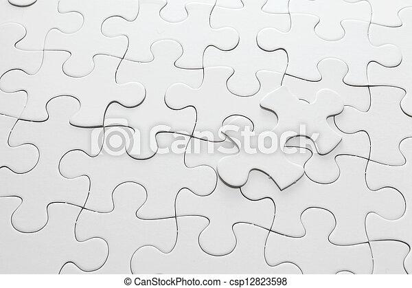 white jigsaw puzzle - csp12823598