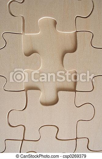 Wooden jigsaw 2 - csp0269379