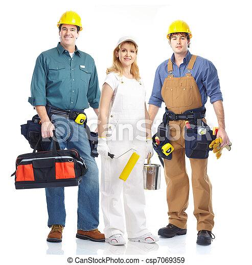 Workers. - csp7069359